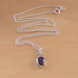 amethyst necklace uk