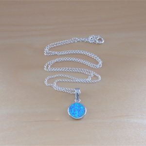 blue opal necklace uk