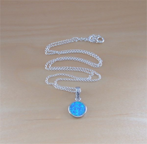 blue opal necklace uk
