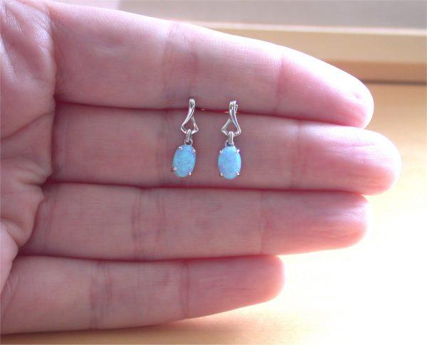 opal earrings uk