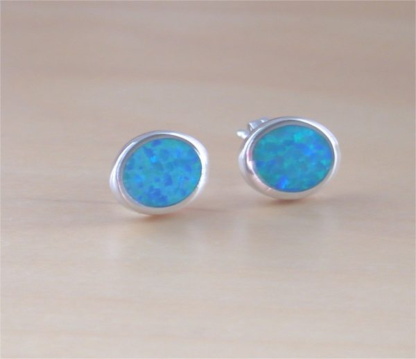 blue opal earrings uk
