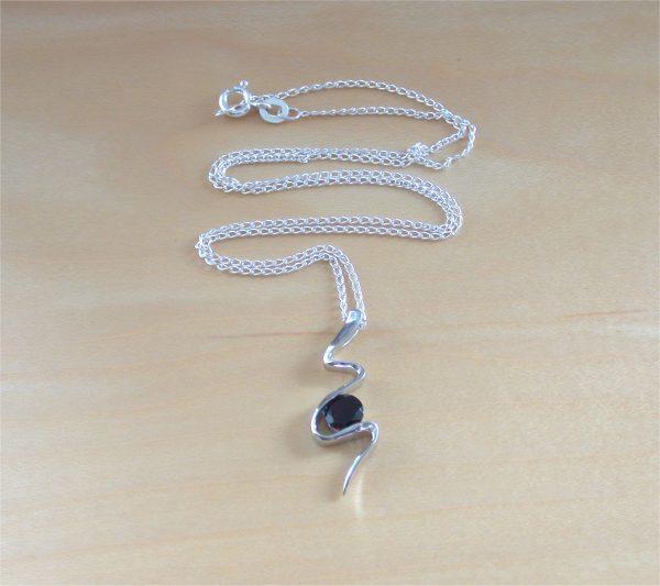 garnet snake necklace uk