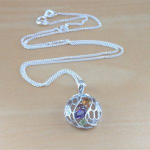 gemstone necklace uk