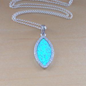 blue opal pendant uk