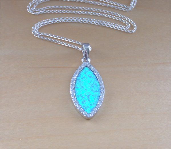 blue opal pendant uk