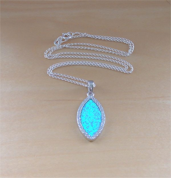silver opal necklace uk