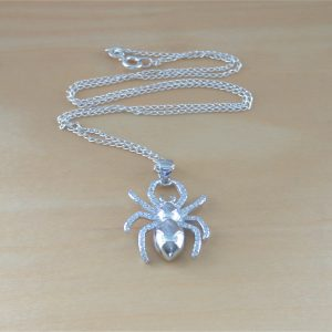 cz spider necklace