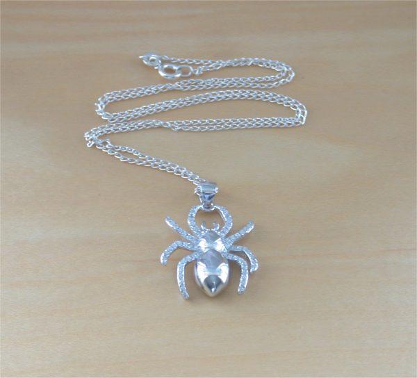 cz spider necklace