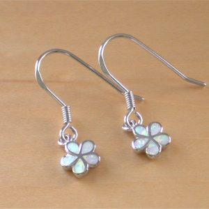 opal daisy earrings