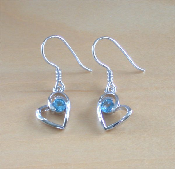 blue topaz earrings uk