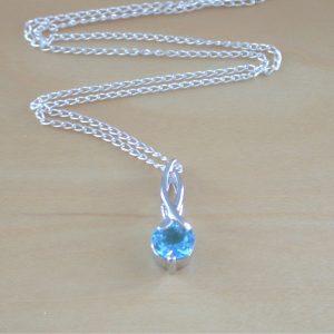 blue topaz necklace uk
