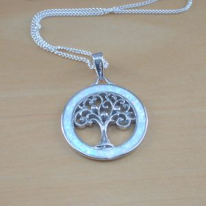 opal tree of life pendant