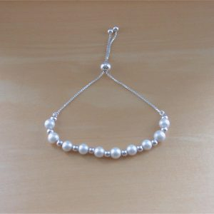 silver freshwater bracelet