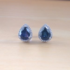 silver sapphire earrings uk