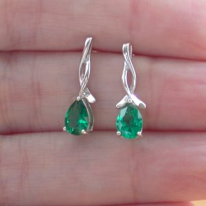 emerald earrings uk