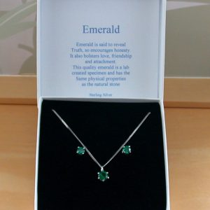 Emerald Necklace and Earrings UK