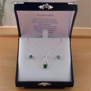 silver emerald gift set