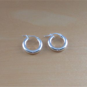silver hoop earrings 16mm