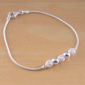 silver beaded bracelet