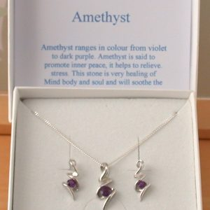 Amethyst Necklace and Earrings