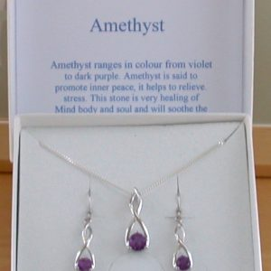 Amethyst Necklace and Earrings UK