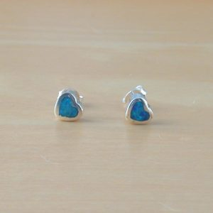 opal heart earrings uk