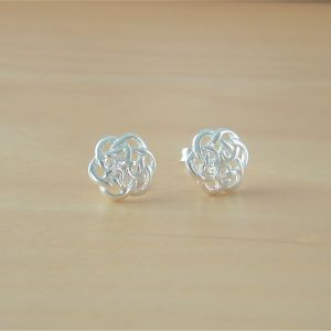 silver celtic stud earrings