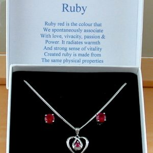 ruby necklace set