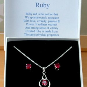 ruby necklace set