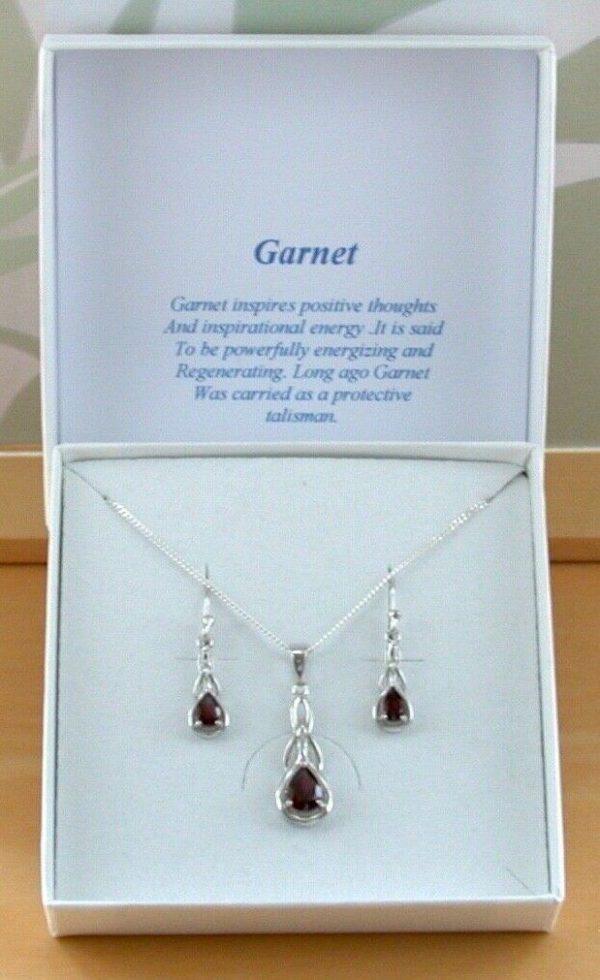 garnet necklace set