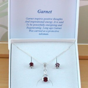 garnet wishbone necklace uk