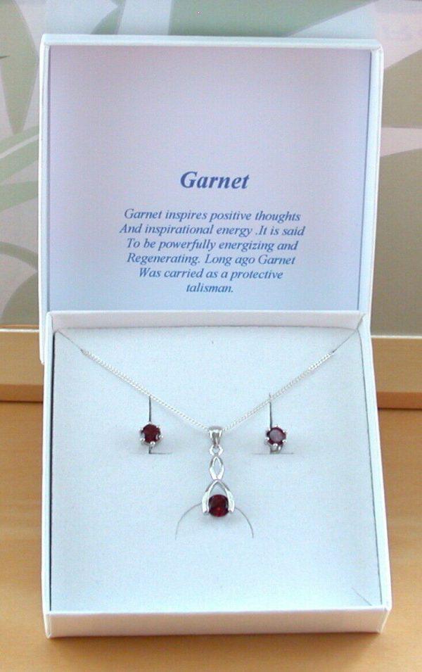 garnet wishbone necklace uk