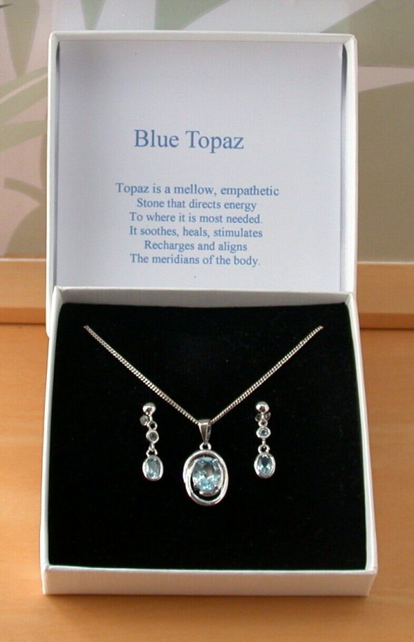 topaz necklace and earrings