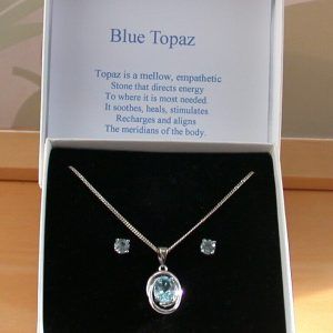 blue topaz necklace &earrings