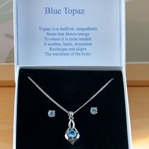 blue topaz necklace & earrings
