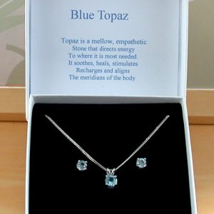 blue topaz necklace uk