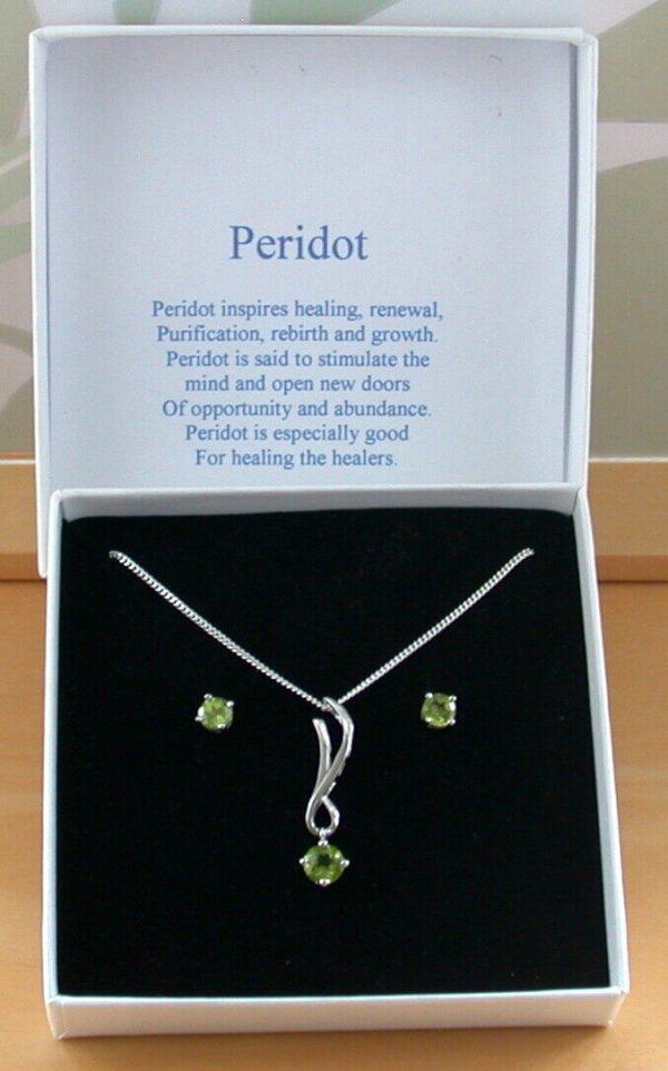 peridot necklace uk