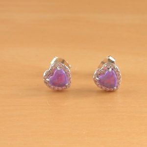 lavender opal earrings