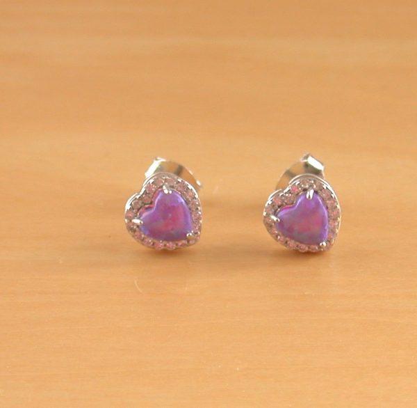 lavender opal earrings