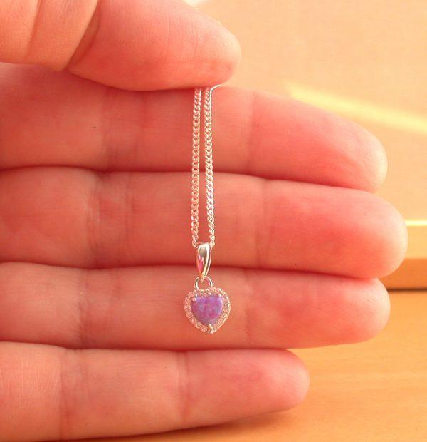 lavender opal necklace