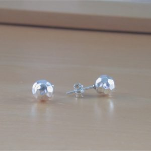 6mm silver stud earrings