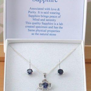 sapphire flower necklace