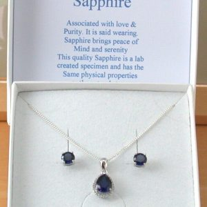 sapphire necklace uk