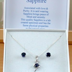 Sapphire Necklace & Earring Gift Set