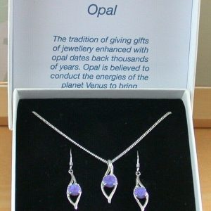 lavender opal necklace and earrings