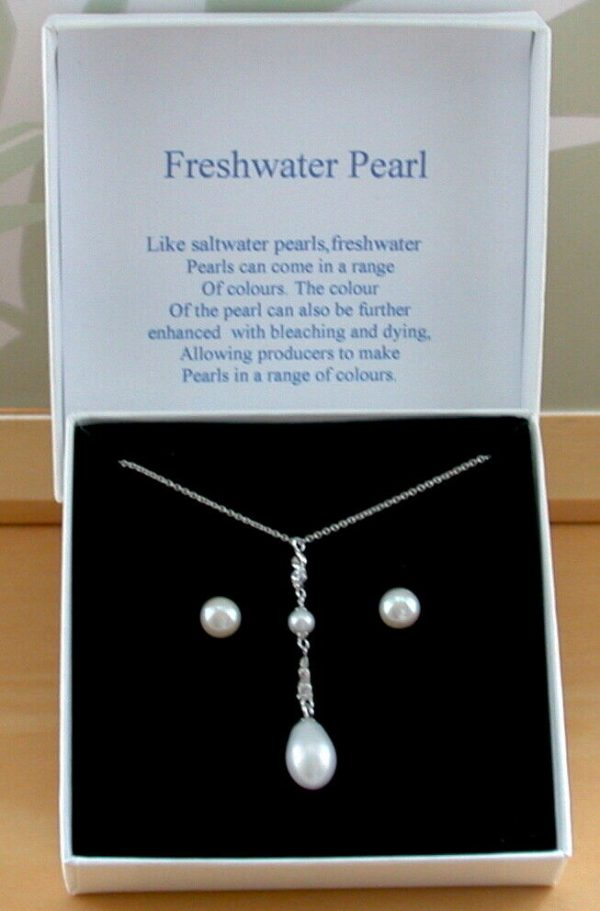 pearl necklace and earrings
