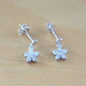cz daisy earrings