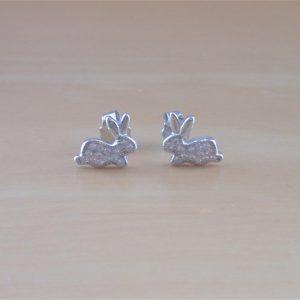 rabbit stud earrings