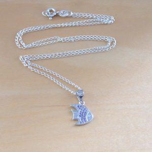 cz fish necklace