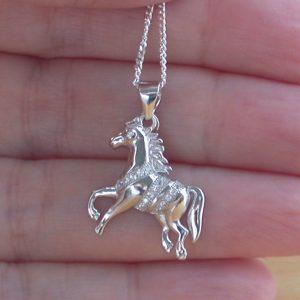 cz horse pendant